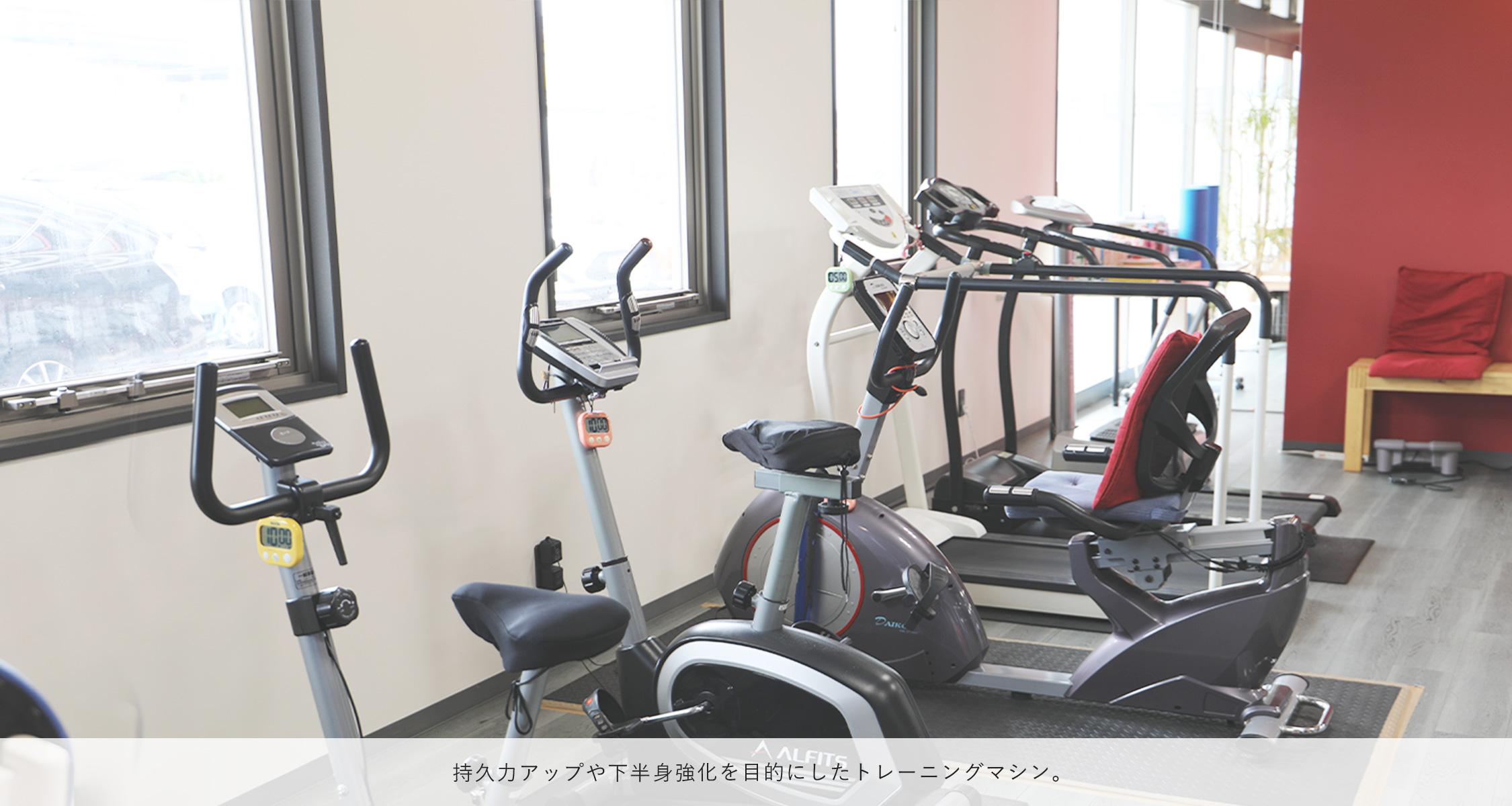 持久力アップや下半身強化を目的にしたトレーニングマシン。